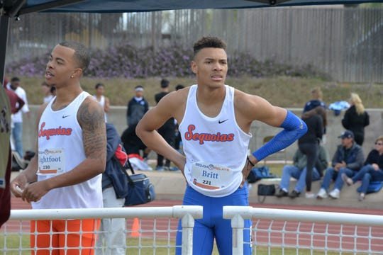 Jamal Britt is expected to carry a heavy load this season for the College of the Sequoias men's track and field team.