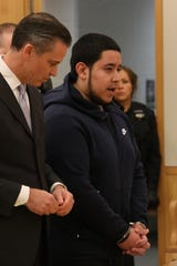 Frank Valencia, a 19-year-old New Rochelle resident, speaks before sentencing in Westchester County Court on Feb. 8, 2019, to 24 years to life in prison for shooting Yonkers police officer Kayla Maher in 2017.