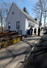 Members of the American Legion Charles R. & Raymond O. Blauvelt Post 310 in Nyack want the Village to fix the curbs at their headquarters Feb. 8, 2019.