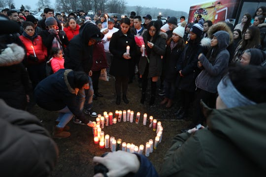 Candlelight vigil for Valerie Reyes at Glen Island Park in New Rochelle Feb. 7, 2019. Reyes body was found in Greenwich, Conn. Feb, 5.