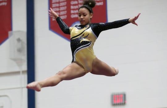 Section 1 gymnastics at Carmel High School Feb. 7,  2019.