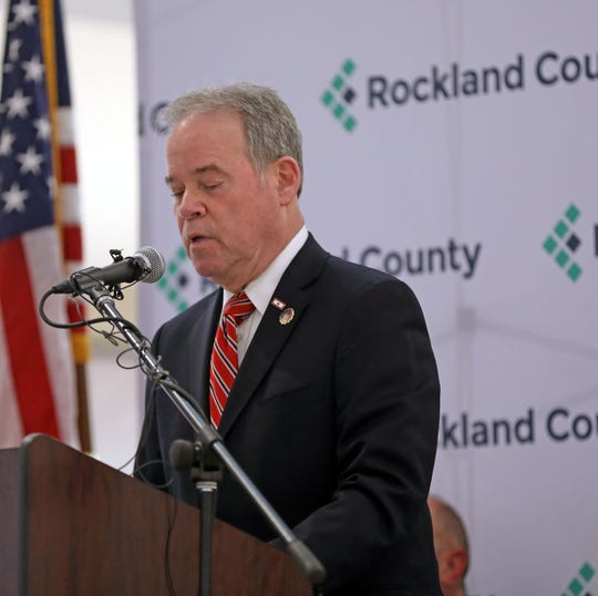 Rockland County Executive Ed Day gives his 2019 state of the county speech at the Palisades Center on Feb. 7, 2019, focusing on the county's fiscal health and encouraging more businesses coming to Rockland.