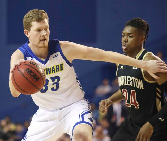 Delaware's Collin Goss keyed Delaware's win over William & Mary when he stepped in for foul-plagued Eric Carter.