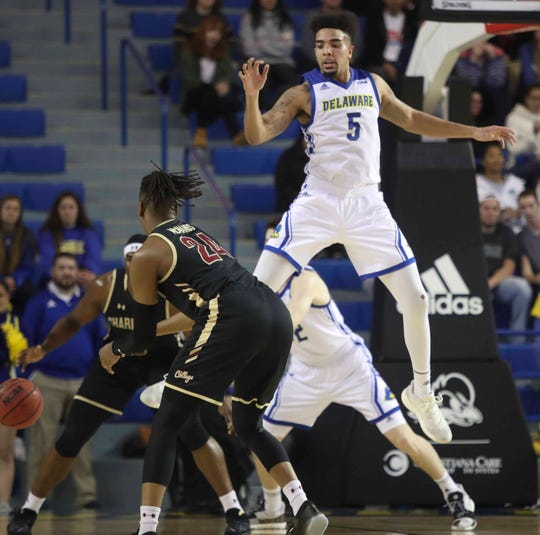 Eric Carter played his final home game for Delaware against Hofstra Saturday.