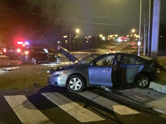 Four people involved in a car crash late Thursday night required advanced life support.Five people were hurt in total.