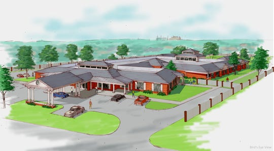 The planned 24-inpatient room facility for Hospice of Wichita Falls will be located on Cypress Avenue, the site that used to feature Seablue Pool.
