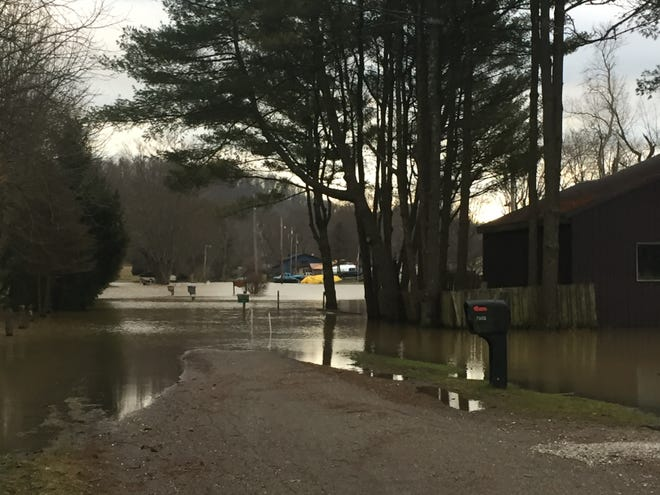 Flooding on Pioneer Drive Friday morning.