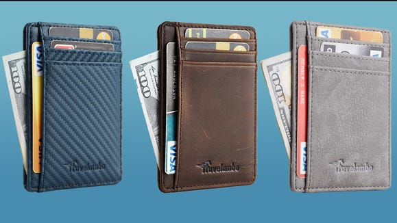 Slim front pocket wallets are a great gift for any guy.