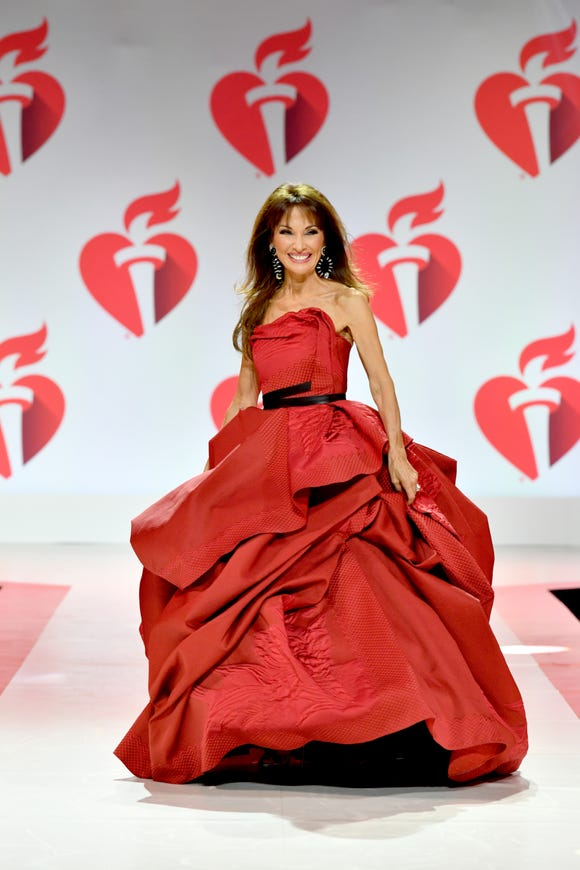 Susan Lucci walked the runway for the American Heart Association's Go Red For Women Red Dress Collection 2019.