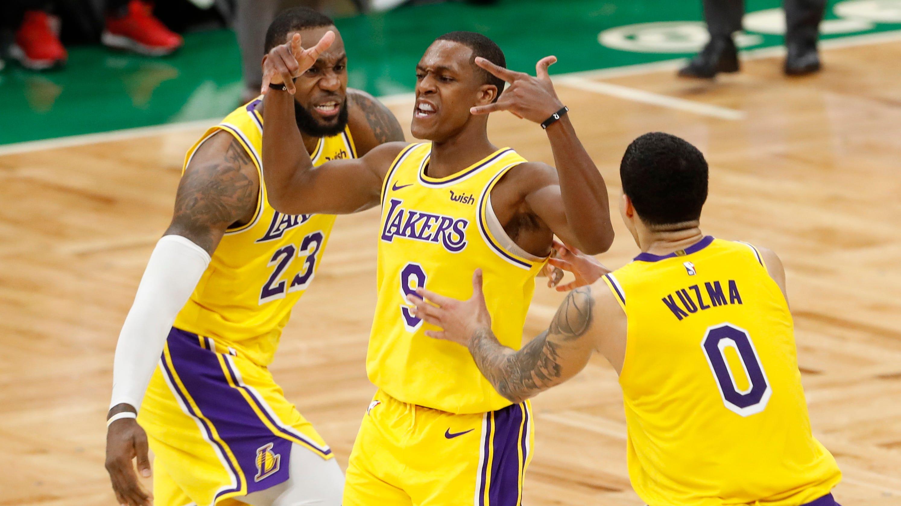 Rajon Rondo's buzzer-beater lifts Lakers over Celtics in ...  Rajon Rondo'...