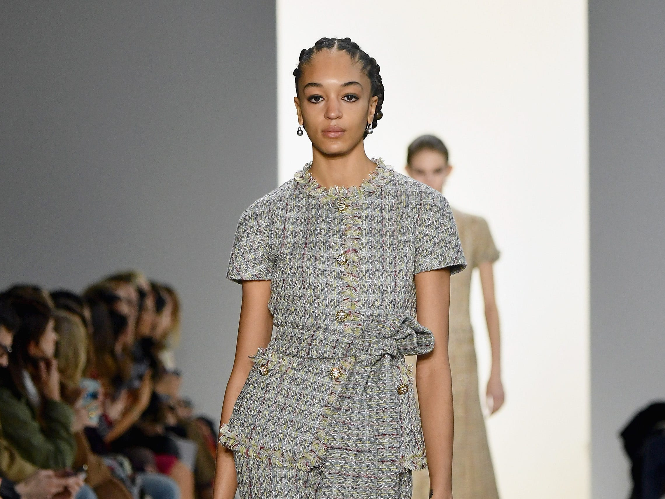 NEW YORK, NY - FEBRUARY 08:  A model walks the runway for the Brock Collection fashion show during New York Fashion Week: The Shows at Gallery I at Spring Studios on February 8, 2019 in New York City.  (Photo by Mike Coppola/Getty Images for NYFW: The Shows) ORG XMIT: 775289359 ORIG FILE ID: 1095524796