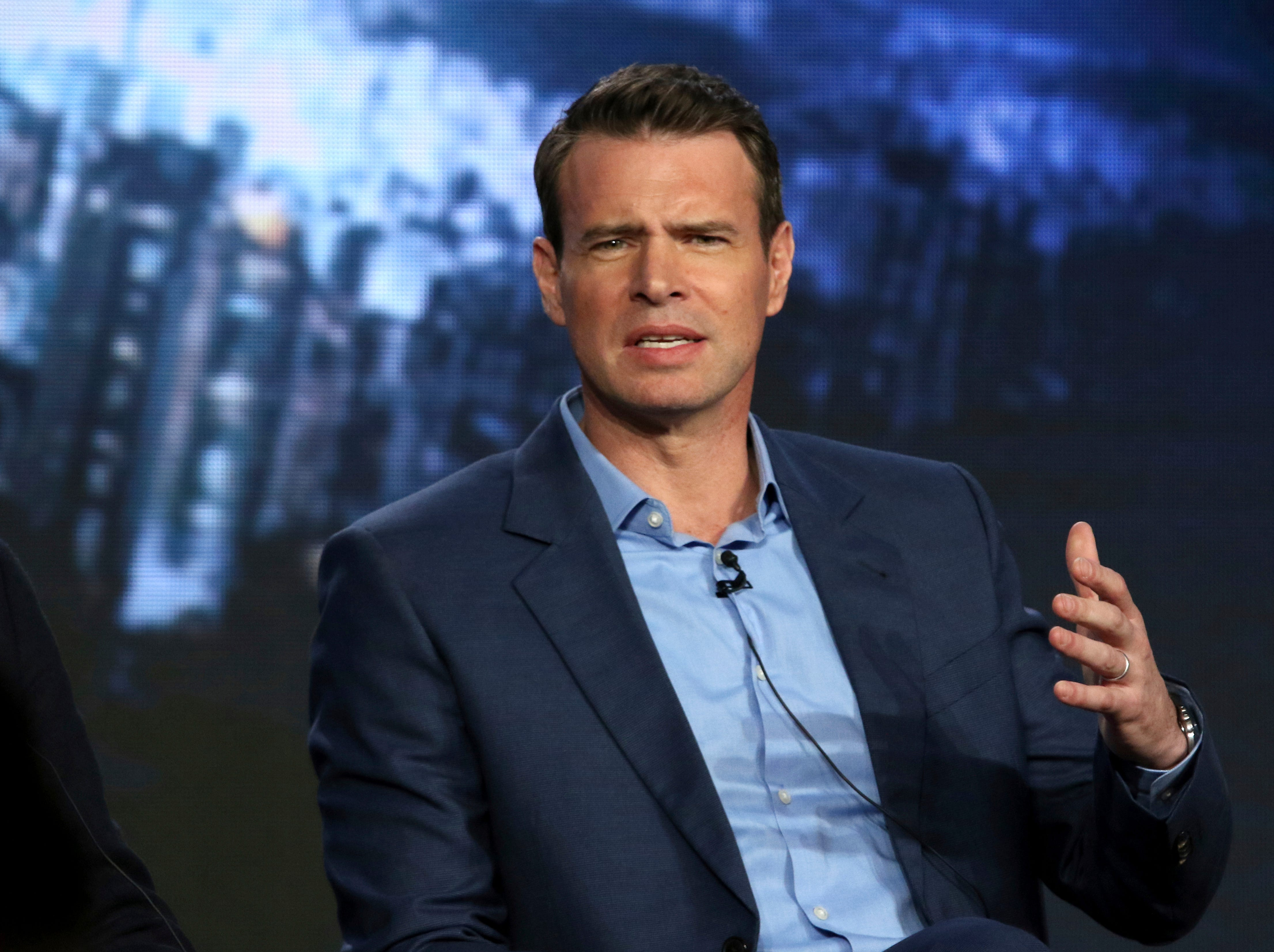 """Scott Foley answers a question during the """"Whiskey Cavalier"""" panel."""