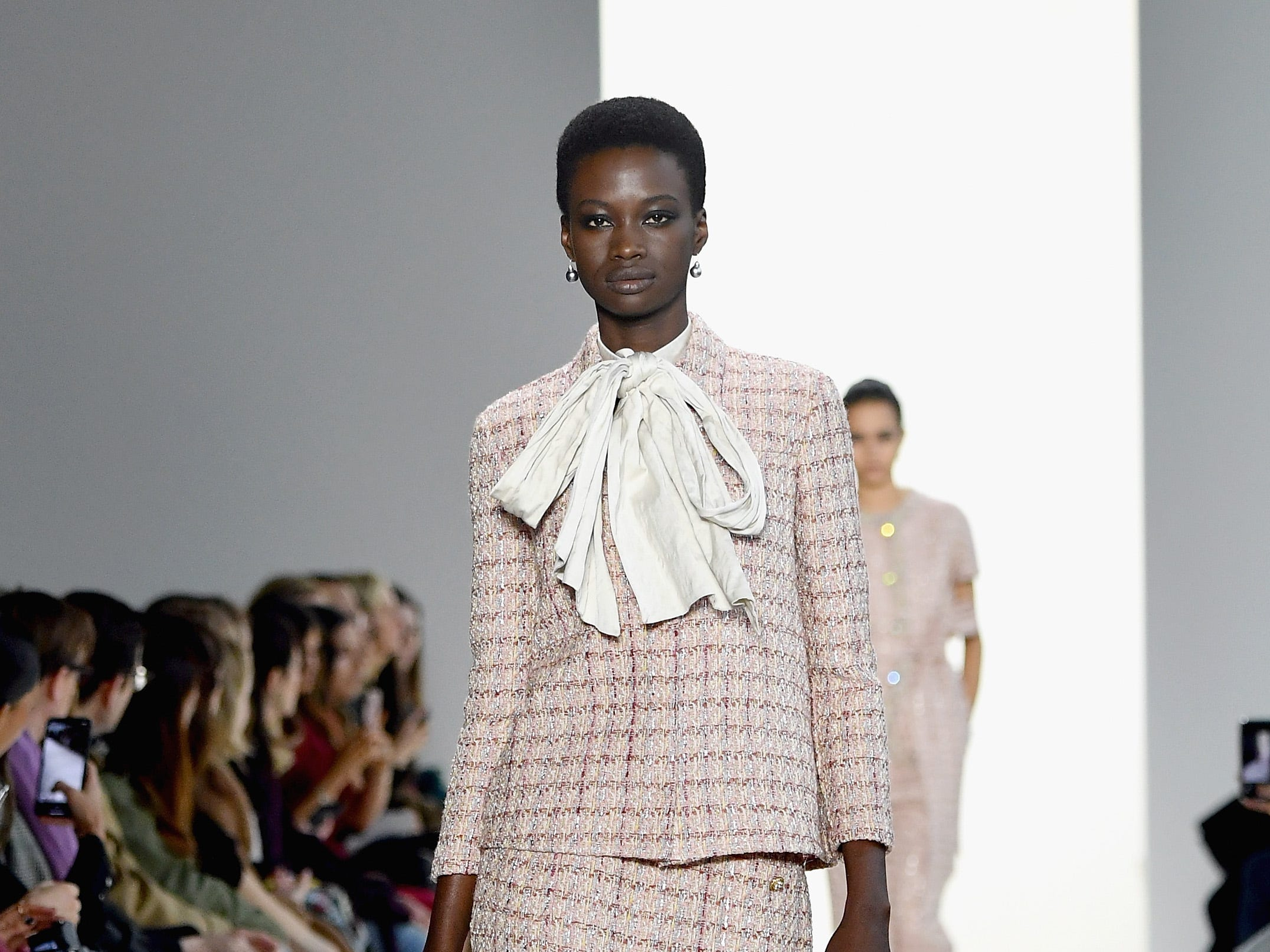 NEW YORK, NY - FEBRUARY 08:  A model walks the runway for the Brock Collection fashion show during New York Fashion Week: The Shows at Gallery I at Spring Studios on February 8, 2019 in New York City.  (Photo by Mike Coppola/Getty Images for NYFW: The Shows) ORG XMIT: 775289359 ORIG FILE ID: 1095510640