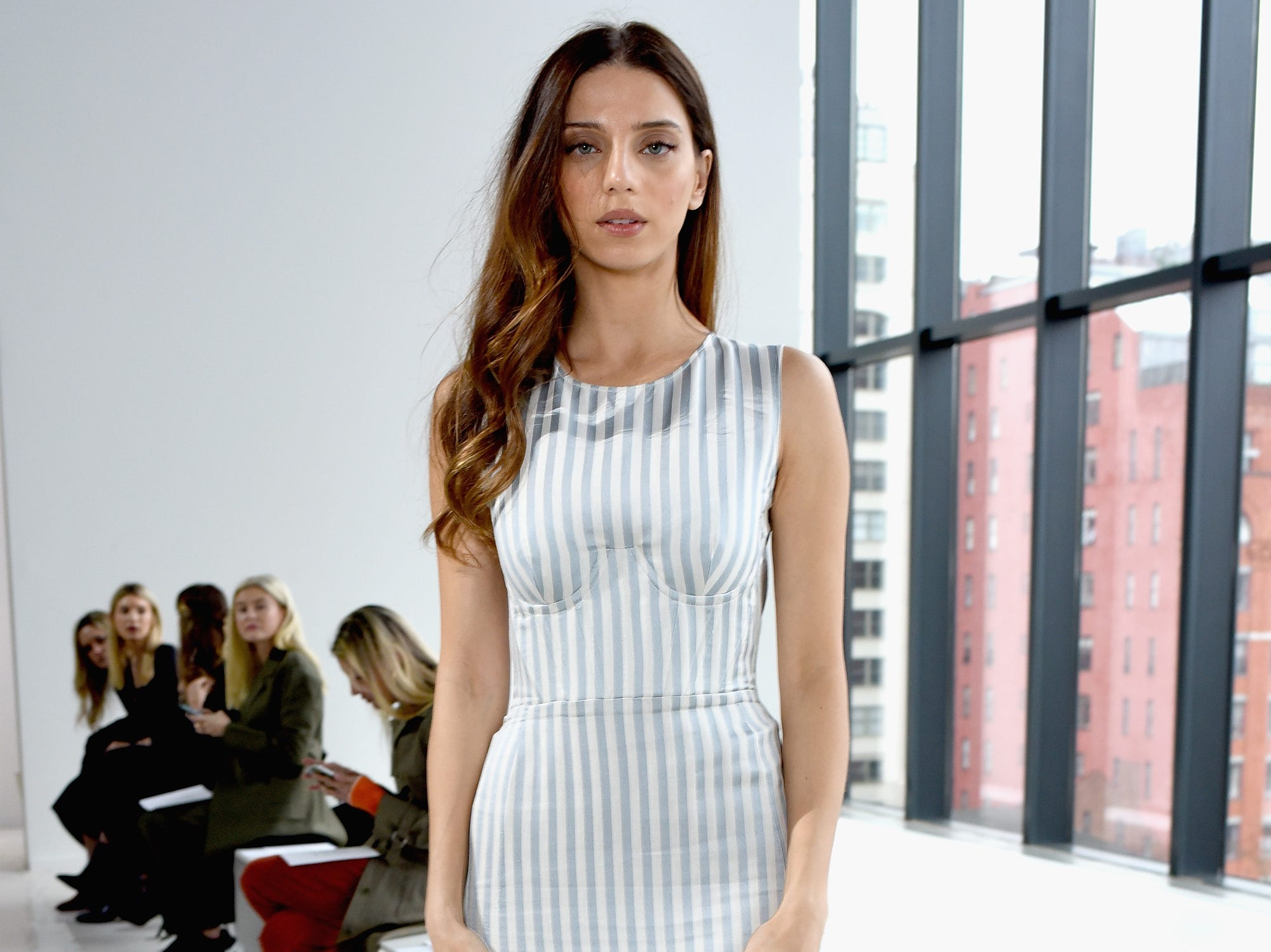 New York Fashion WEek, Fall 2019 continued Thursday with actress Angela Sarafyan attending the Brock Collection show.