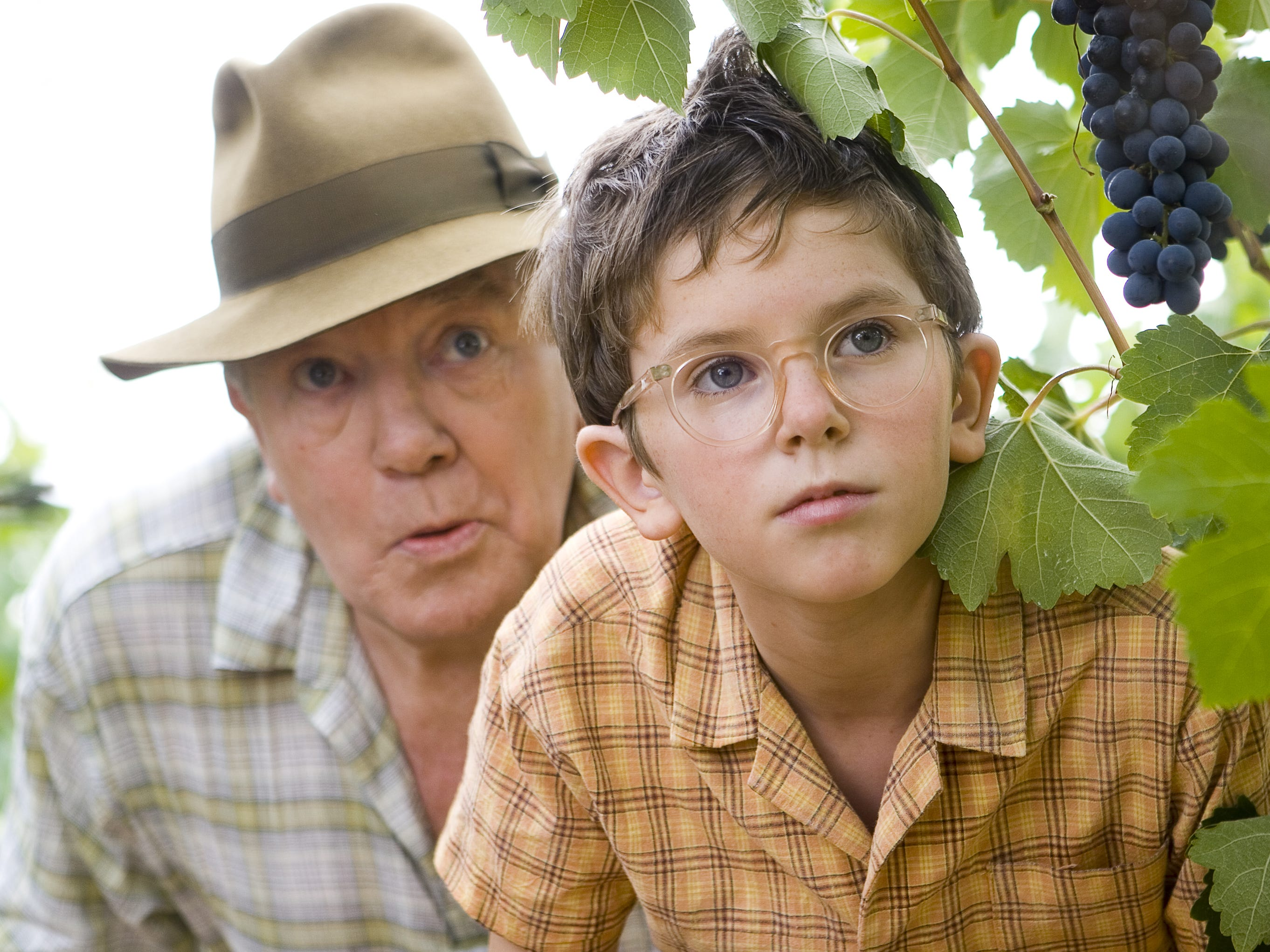 Albert Finney and Freddie Highmore in a scene from the motion picture A Good Year, 2006.