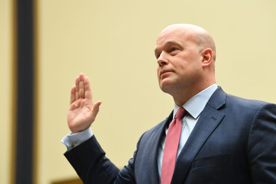 Acting Attorney General Matthew Whitaker testifies before the House Judiciary Committee on Feb. 8, 2019 in Washington.