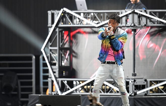 Rapper Lil Baby performs onstage during Bud Light Super Bowl Music Fest / EA SPORTS BOWL at State Farm Arena on January 31, 2019 in Atlanta, Georgia.
