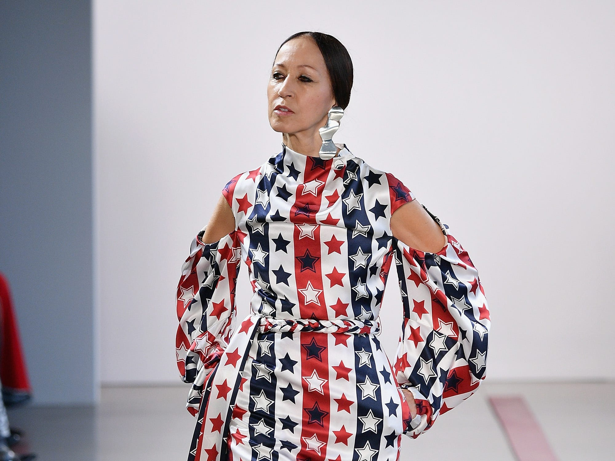 NEW YORK, NY - FEBRUARY 08: Model Pat Cleveland walks the runway for the Hellessy fashion show during New York Fashion Week: The Shows at Gallery II at Spring Studios on February 8, 2019 in New York City.  (Photo by Dia Dipasupil/Getty Images for NYFW: The Shows) ORG XMIT: 775289362 ORIG FILE ID: 1095539700