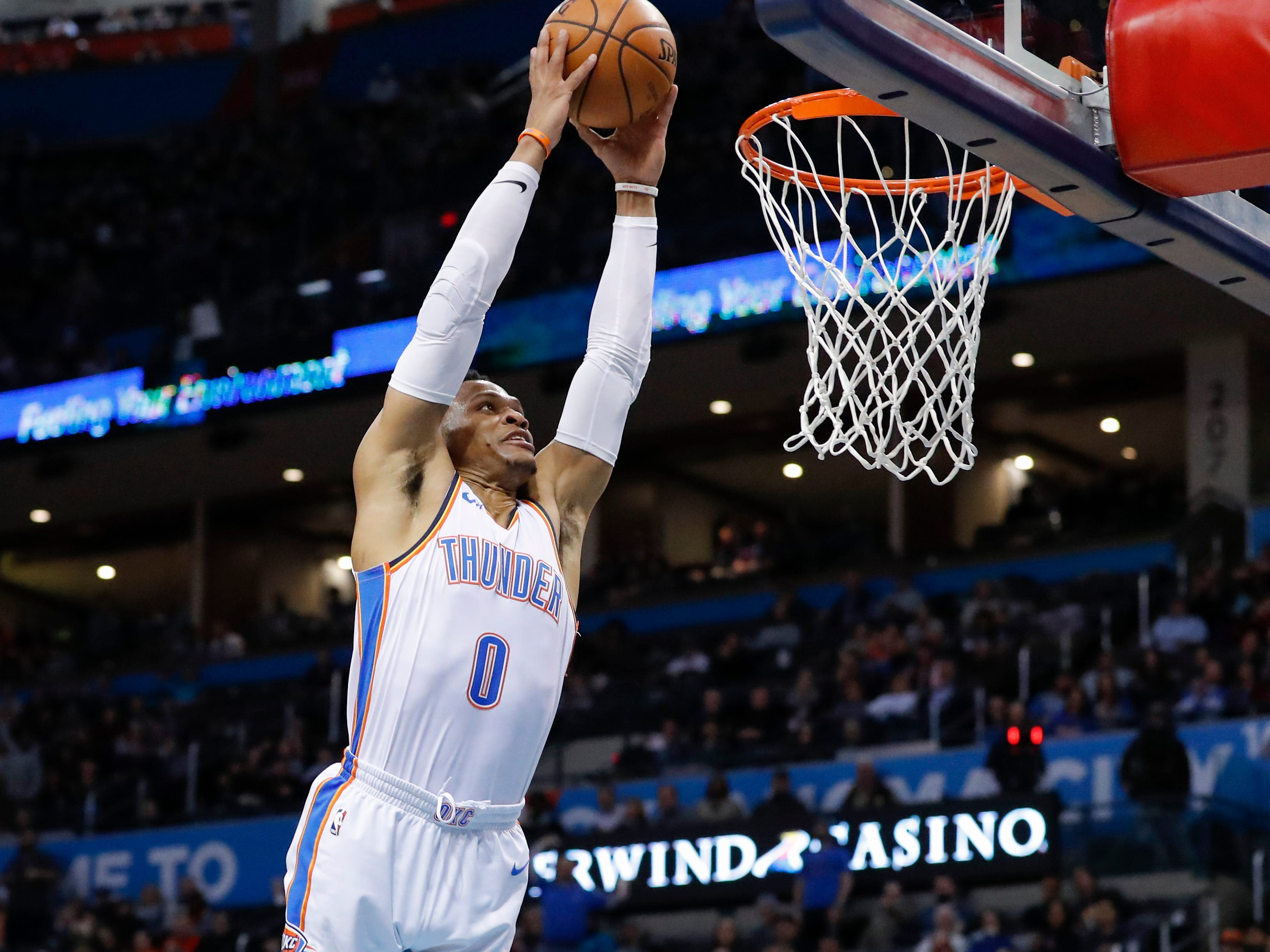 77. Russell Westbrook (Feb. 7):15 points, 13 rebounds, 15 assists in 117-95 win over Grizzlies (21st of season).