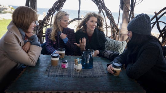 "Nicole Kidman, Reese Witherspoon, Laura Dern and Shailene Woodley in ""Big Little Lies."""