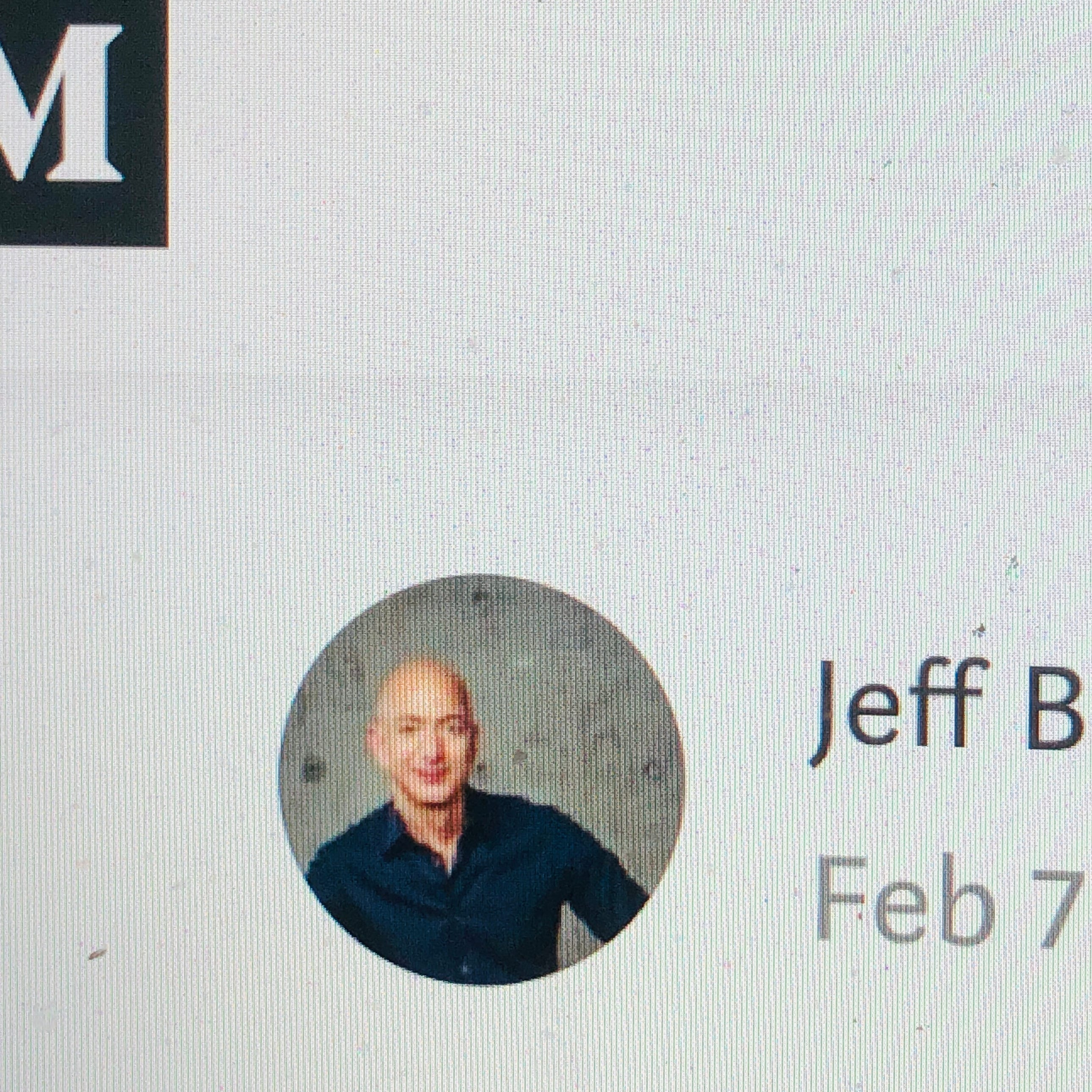 Jeff Bezos on Medium