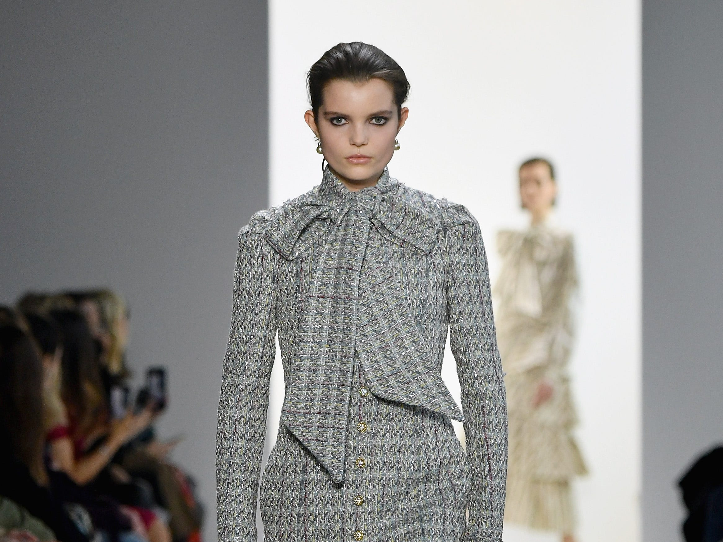 NEW YORK, NY - FEBRUARY 08:  A model walks the runway for the Brock Collection fashion show during New York Fashion Week: The Shows at Gallery I at Spring Studios on February 8, 2019 in New York City.  (Photo by Mike Coppola/Getty Images for NYFW: The Shows) ORG XMIT: 775289359 ORIG FILE ID: 1095510646