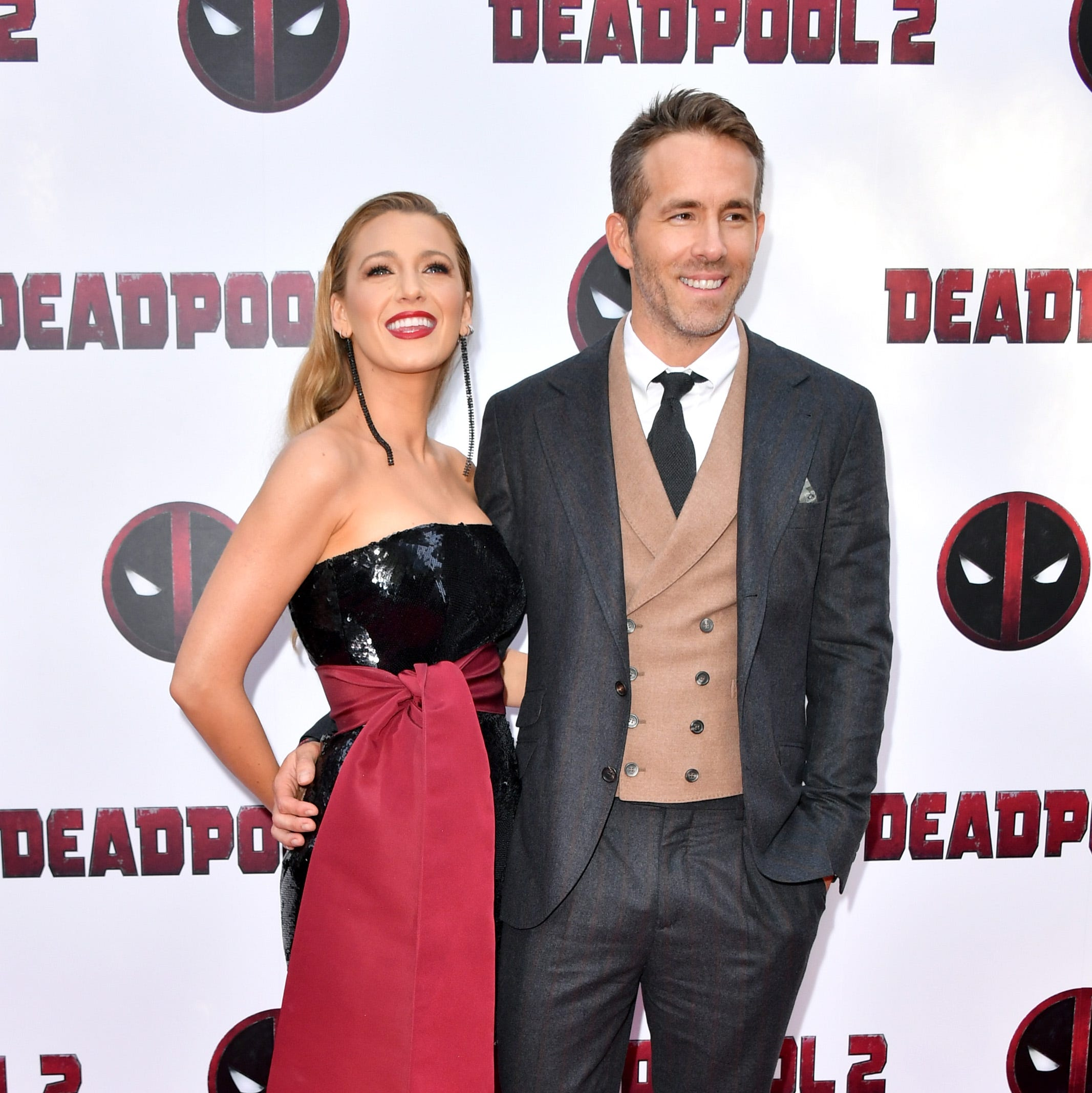 NEW YORK, NY - MAY 14:  Actors Blake Lively (L) and Ryan Reynolds attend the 'Deadpool 2' screening at AMC Loews Lincoln Square on May 14, 2018 in New York City.  (Photo by Michael Loccisano/Getty Images) ORG XMIT: 775163876 ORIG FILE ID: 958590586