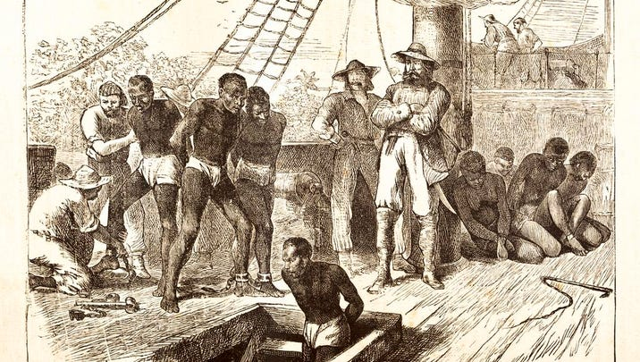 An 1881 engraving only hints at the truly hellish conditions aboard slave ships. Millions of Africans died on the ships en route to the New World.