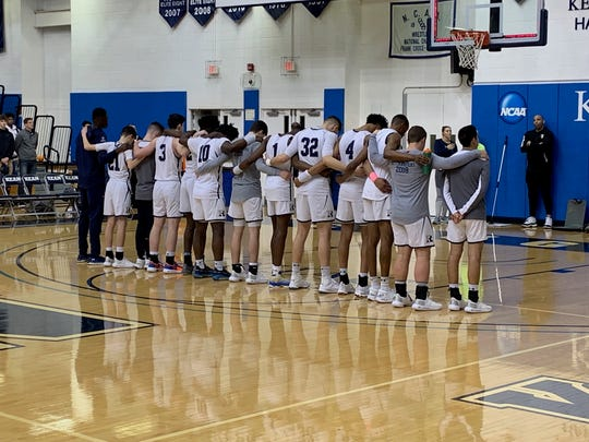 Ranney stands together for the national anthem on Friday night before taking on Montverde Academy at the Metro Classic