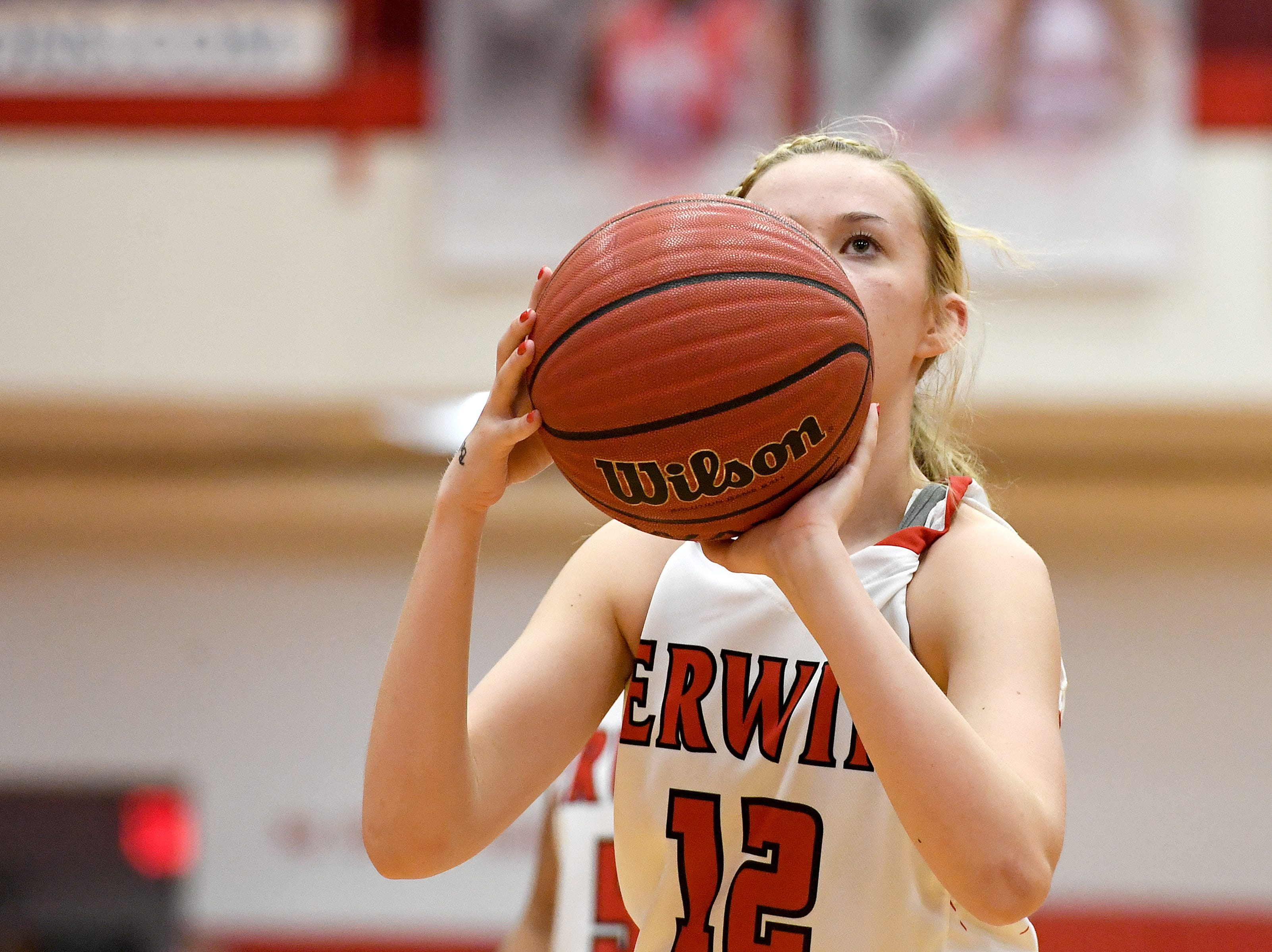 Erwin took on Enka at Erwin High School on Feb. 8, 2019. The Lady Warriors defeated the Sugar Jets 68-46 to claim the WMAC regular season title.