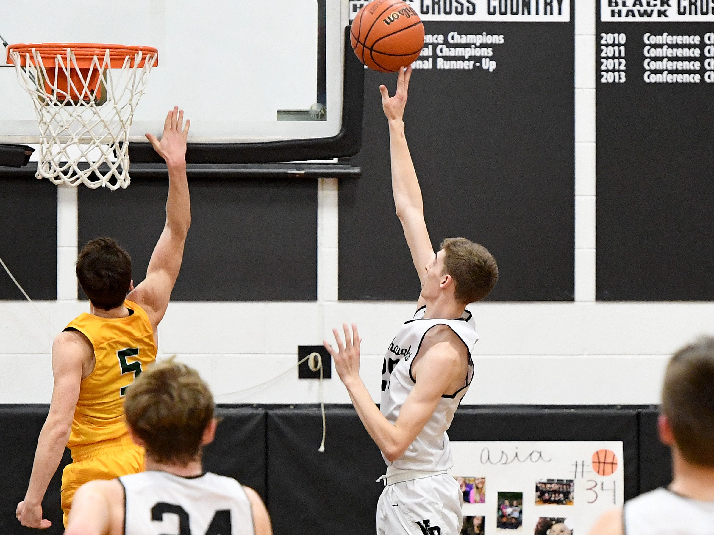 North Buncombe hosted Reynolds on Feb. 8, 2019. The Blackhawks defeated the Rockets 72-68.