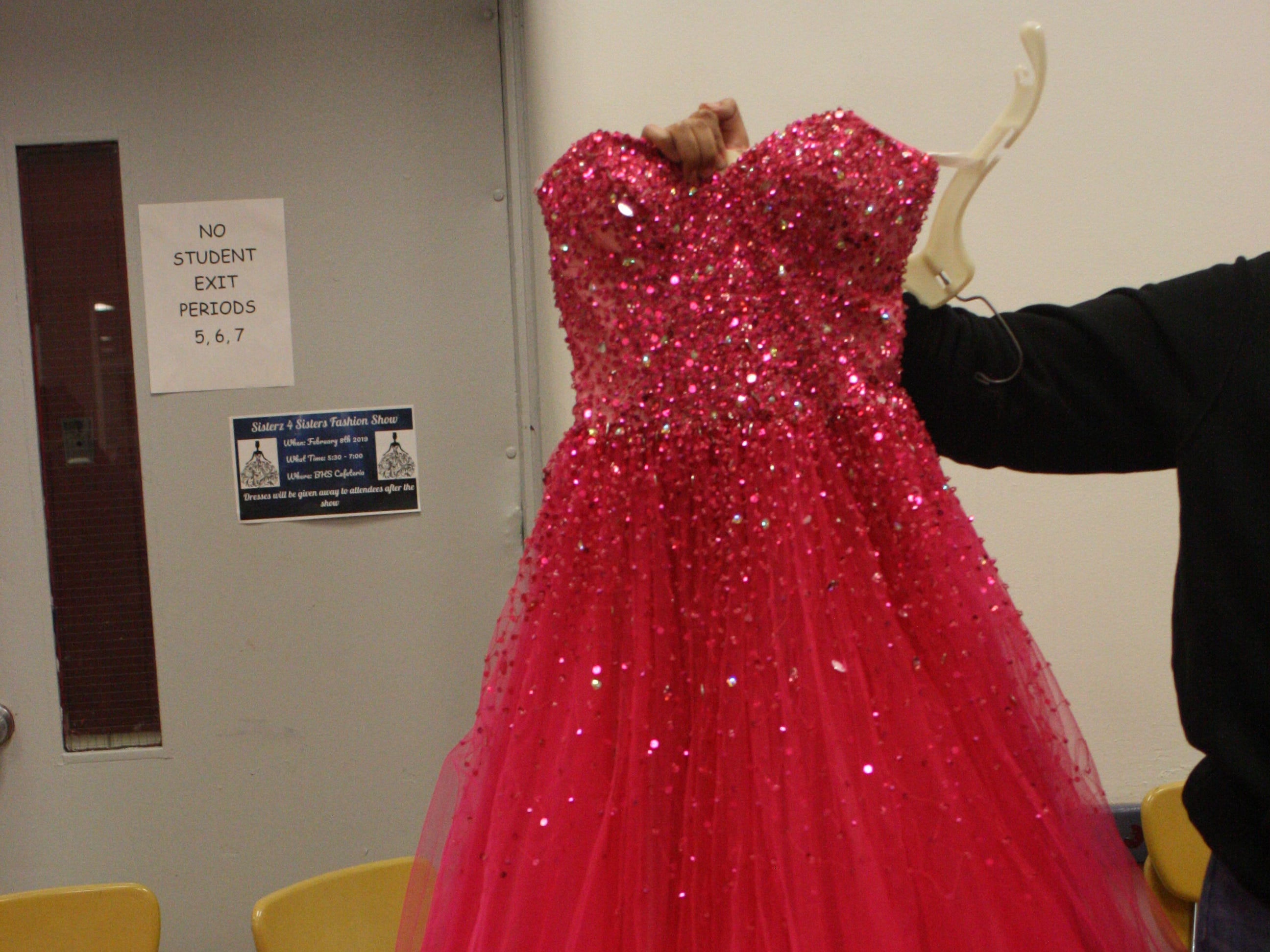 Binghamton High School's Sisterz 4 Sisters club held its prom fashion show and dress giveaway Friday evening at Binghamton High School.