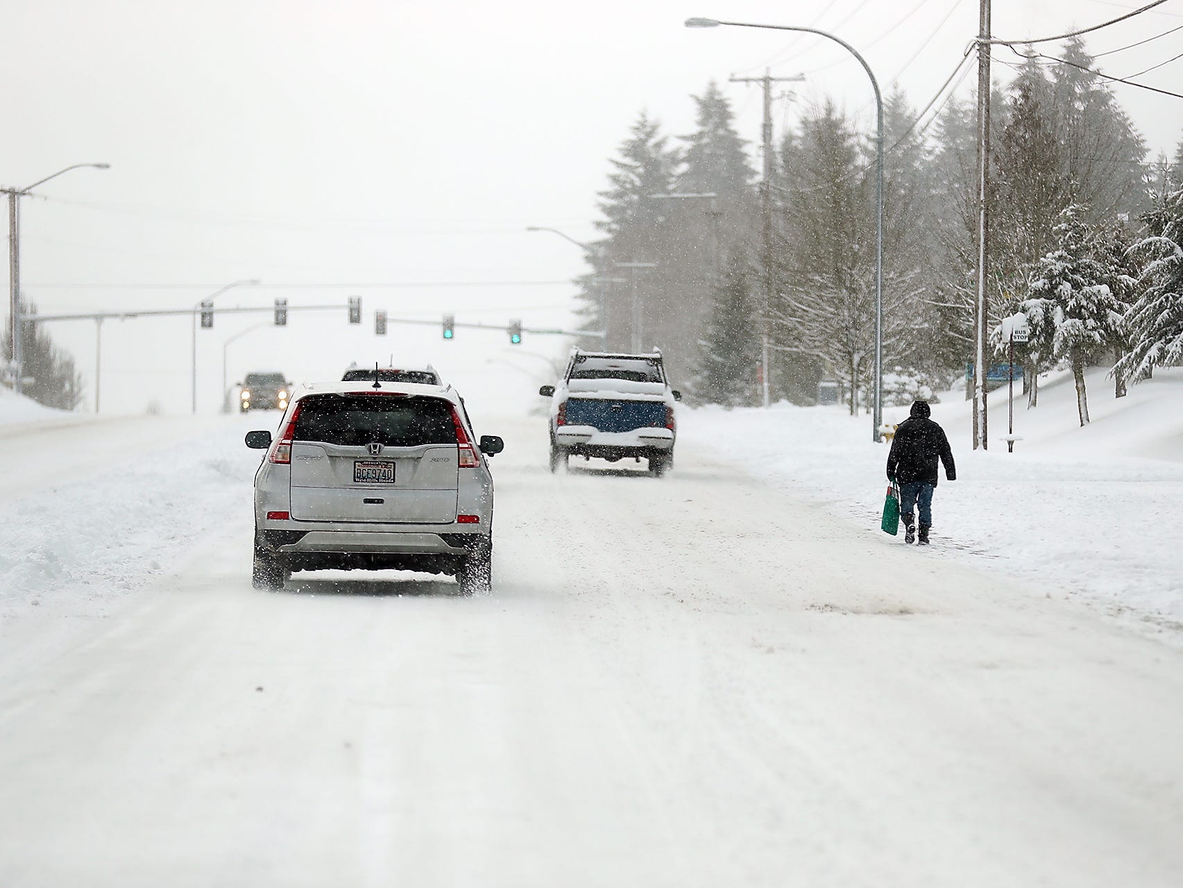 Snow storm hits Kitsap on Saturday, February 9, 2019.