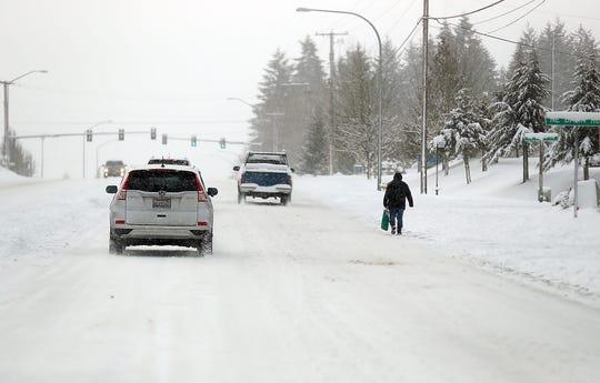 Snow storm hits Kitsap on Saturday, February 9, 2019.