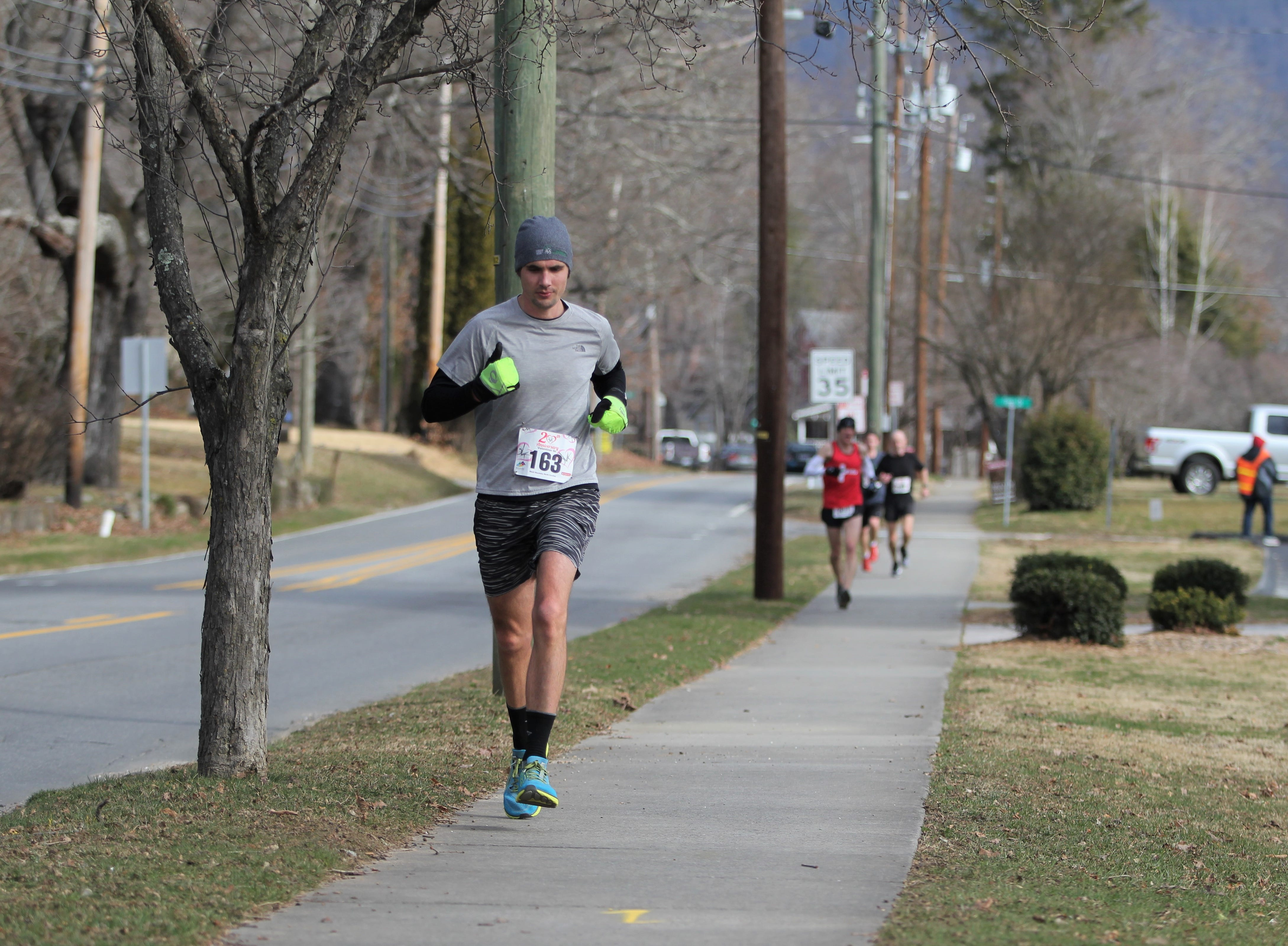 Hundreds of runners gathered at Lake Tomahawk for the 20th annual Valentine 5K & Kids Fun Run. The event is hosted by the Town of Black Mountain Recreation and Parks Department, and takes participants along two of the town's greenways. This year's top finisher was David Short, of Asheville, who finished in 18:42.8. The top female finisher was Valerie Gortmaker, also out of Asheville.