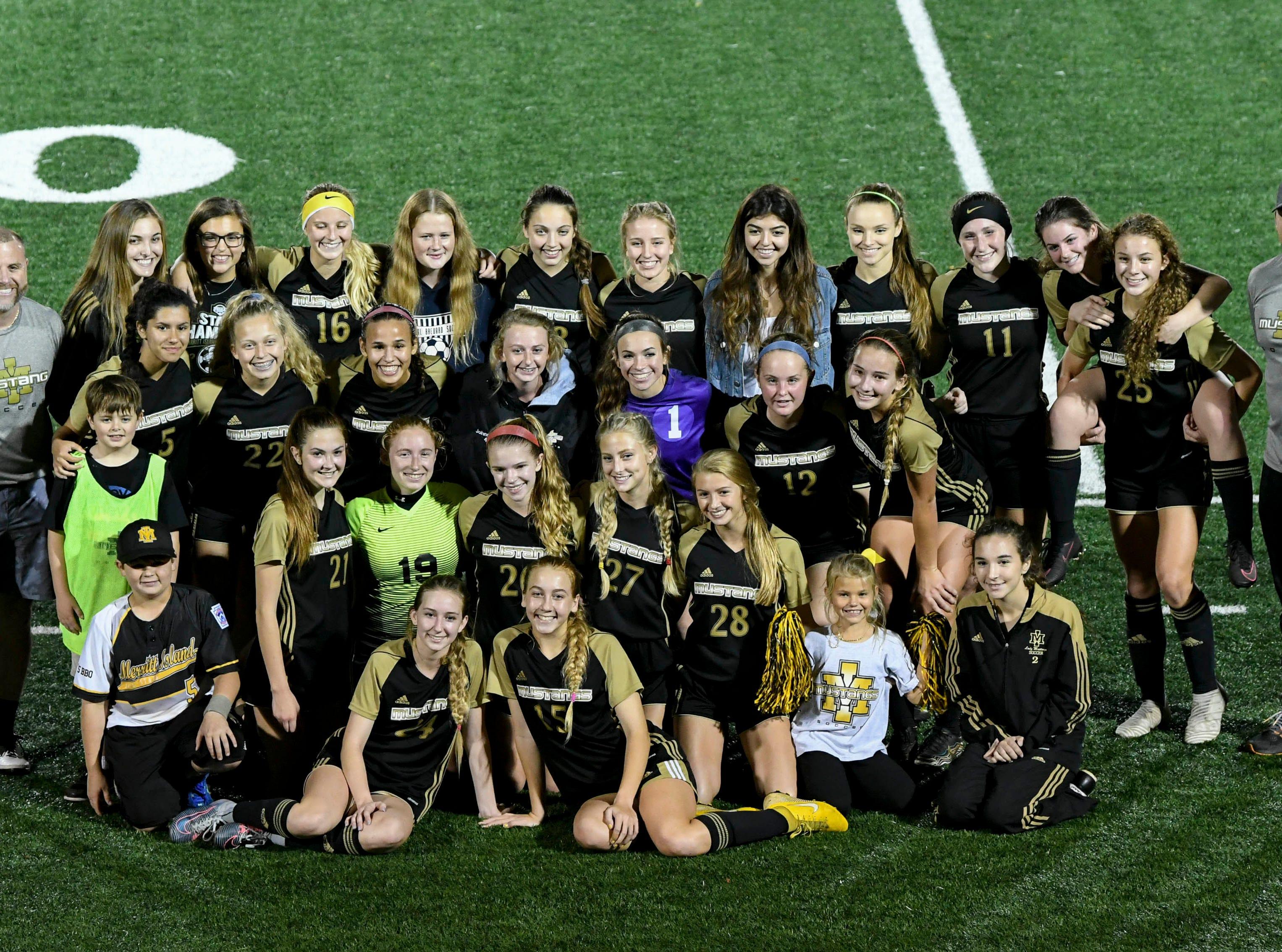 Merritt Island's girls soccer team defeats Satellite 3-0 to advance in Class 3A soccer Friday evening at Merritt Island High.