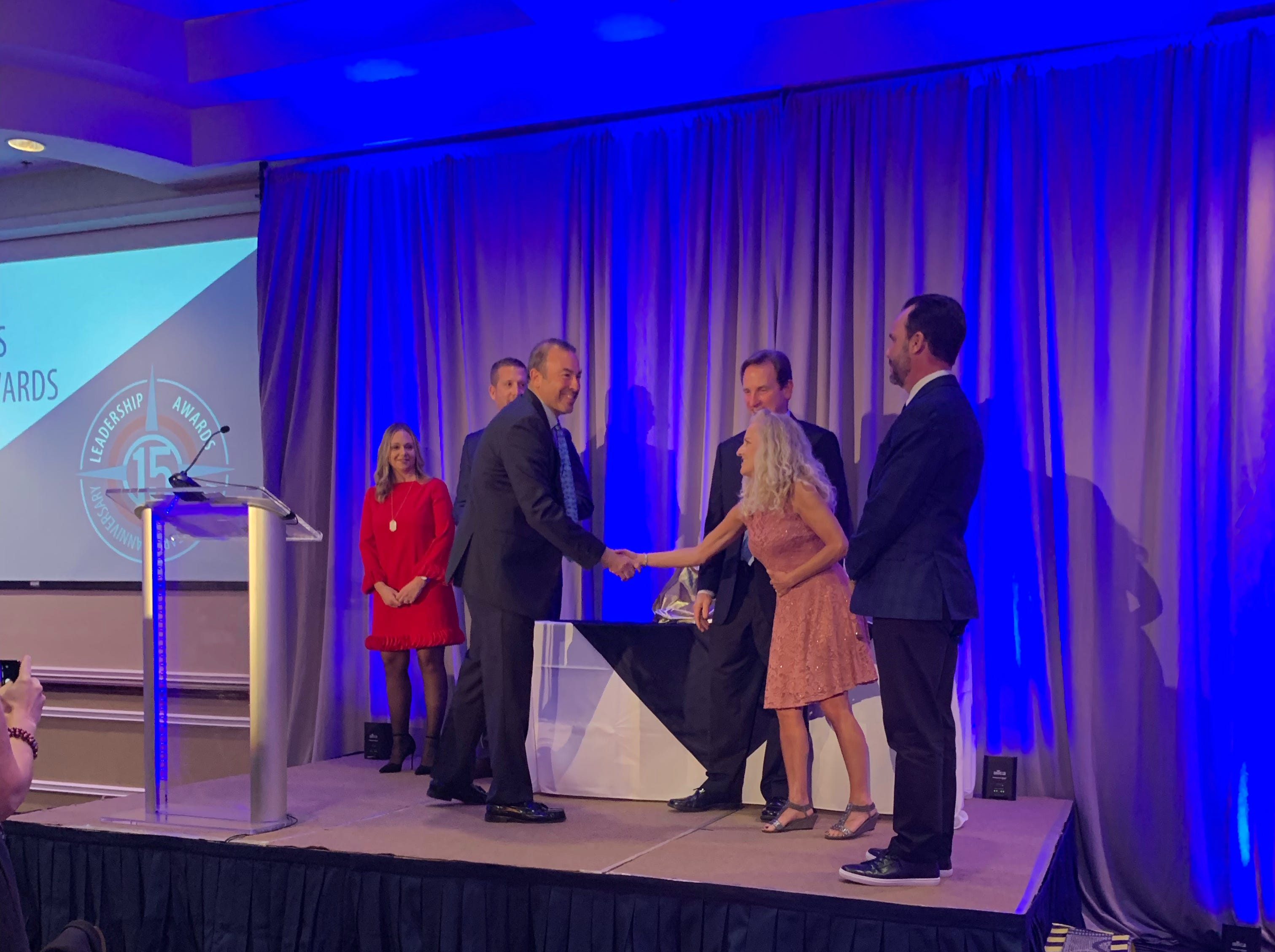 The 2019 recipient of the Rodney S. Ketcham Leadership Icon Award goes to Keith Winsten, Executive Director, Brevard Zoo Sponsored by Canaveral Port Authority and W + J Construction.  Presented by Chairman of the Canaveral Port Authority, Commissioner Micah Loyd and Jen Rogers, Project Development Director, W + J Construction  Dale and Sue Ketcham