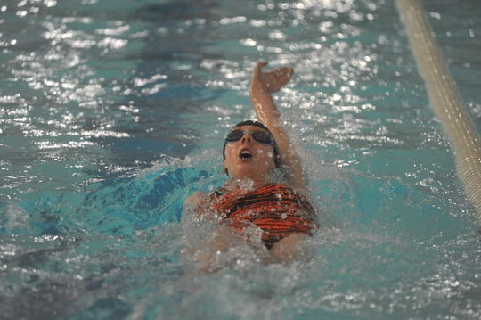 Galion freshman Troie Grubbs is .1 off the school record in the 100 backstroke heading into Friday's Division II district swim meet at Bowling Green.