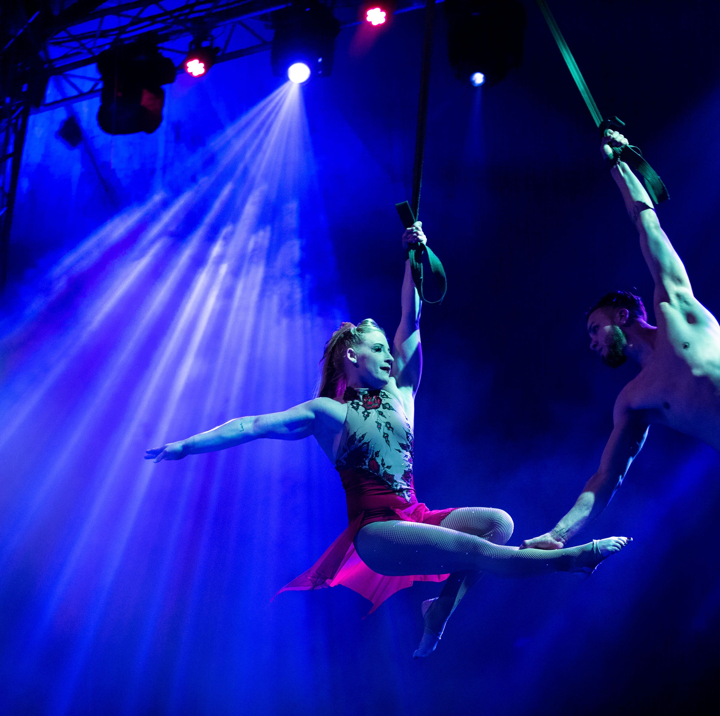 Watch water acrobats soar in the air at Cirque Italia in Robstown