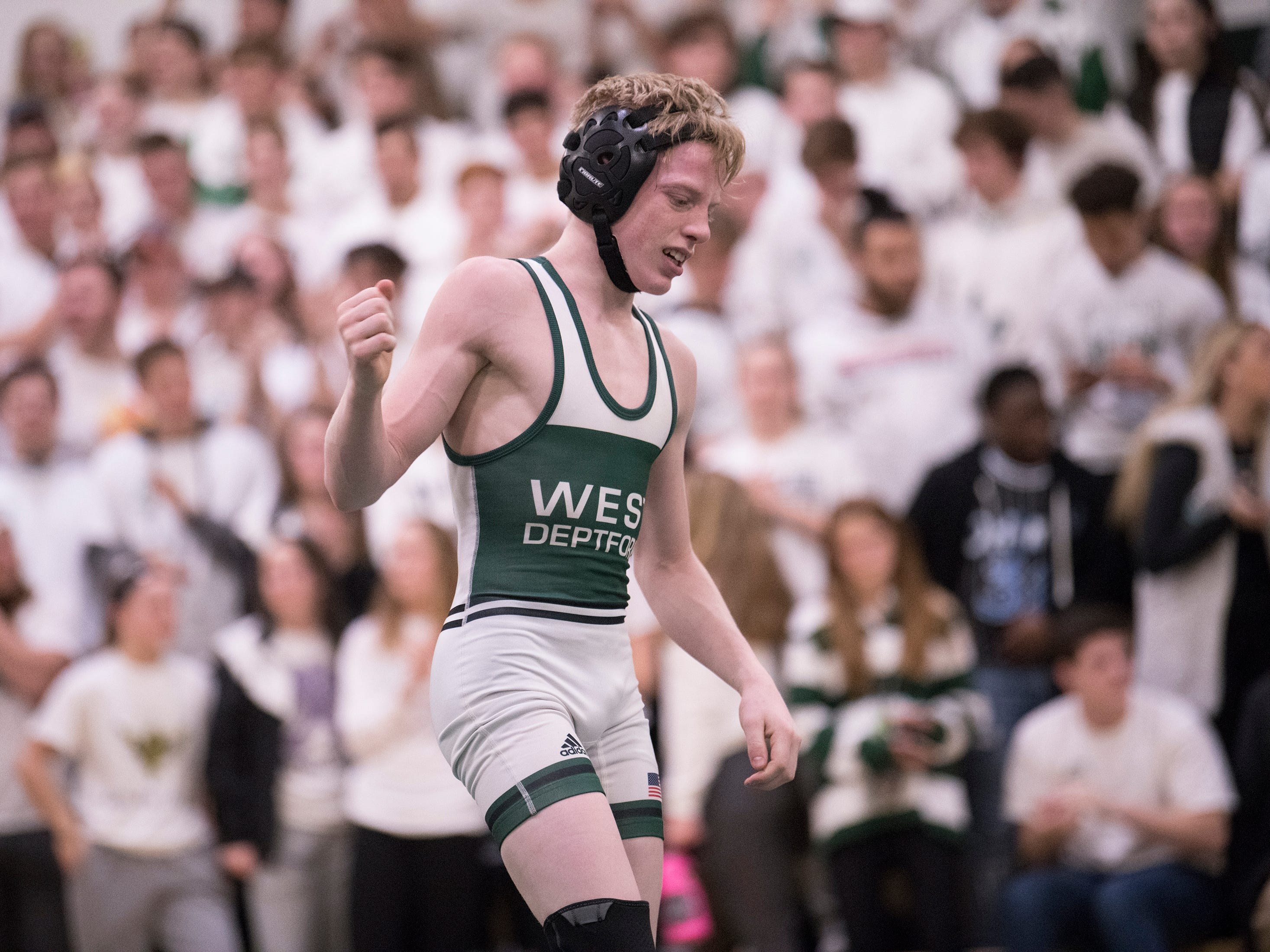 West Deptford defeated Haddonfield, 38-20, in the SJ Group 2 title meet held at West Deptford High School on Friday, February 8, 2019.