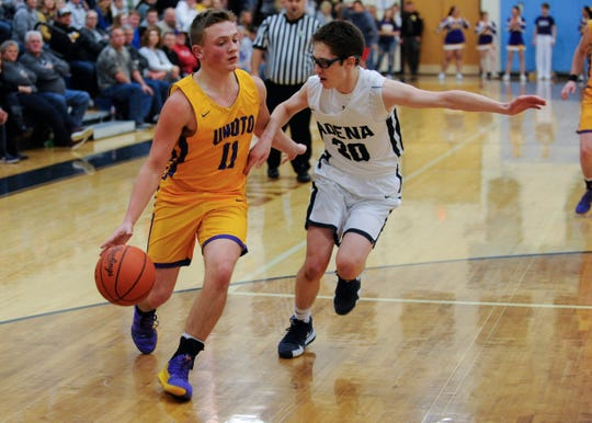 Unioto's Isaac Little earned all-league second team honors for the Unioto Shermans.