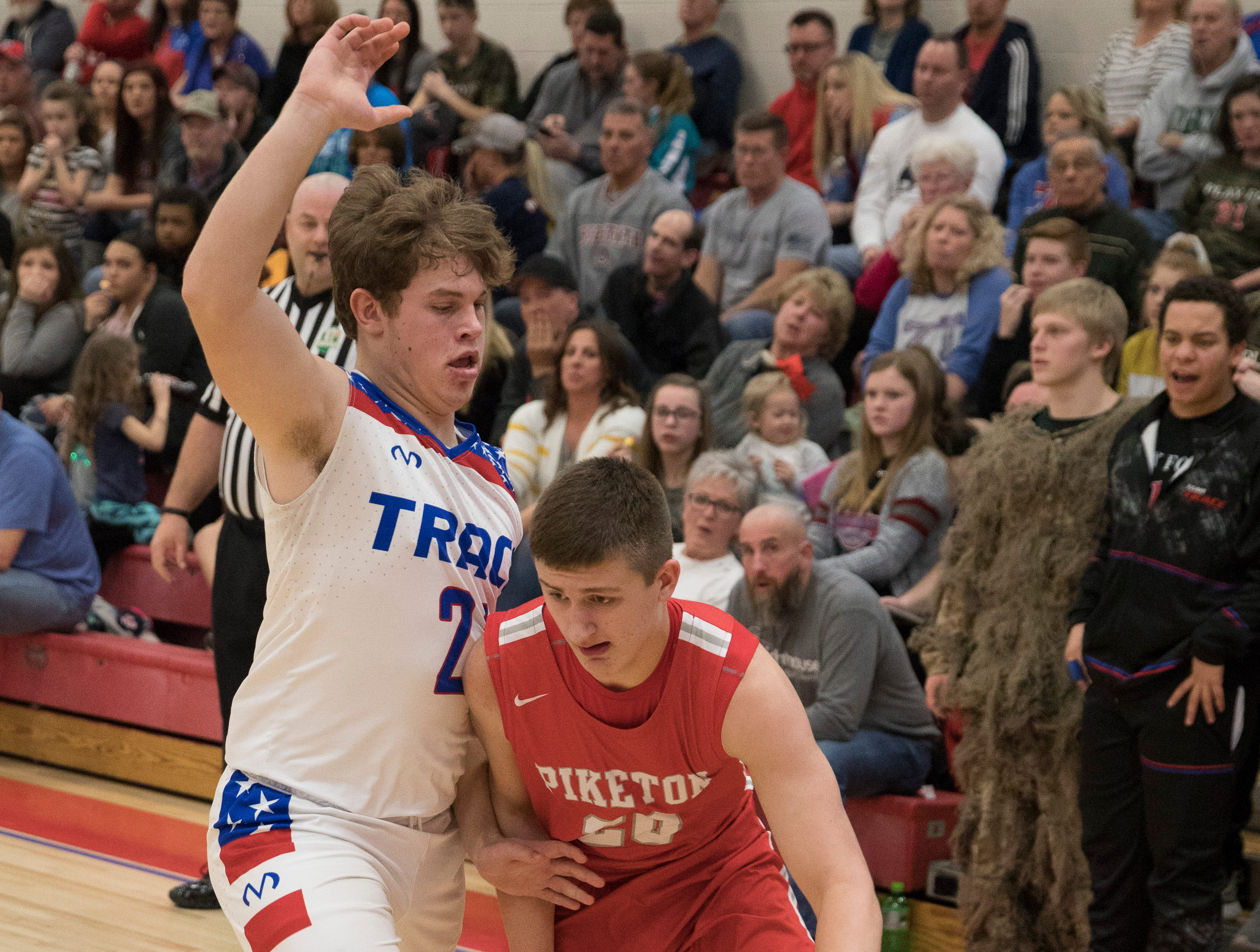 Zane Trace defeated Piketon 55-43 Friday night at Zane Trace High School to guarantee them a share of the SVC title.