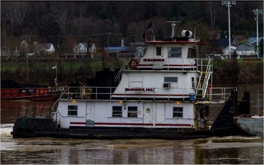 The Coast Guard responded Friday to a vessel that capsized on the Ohio River near Cheshire.