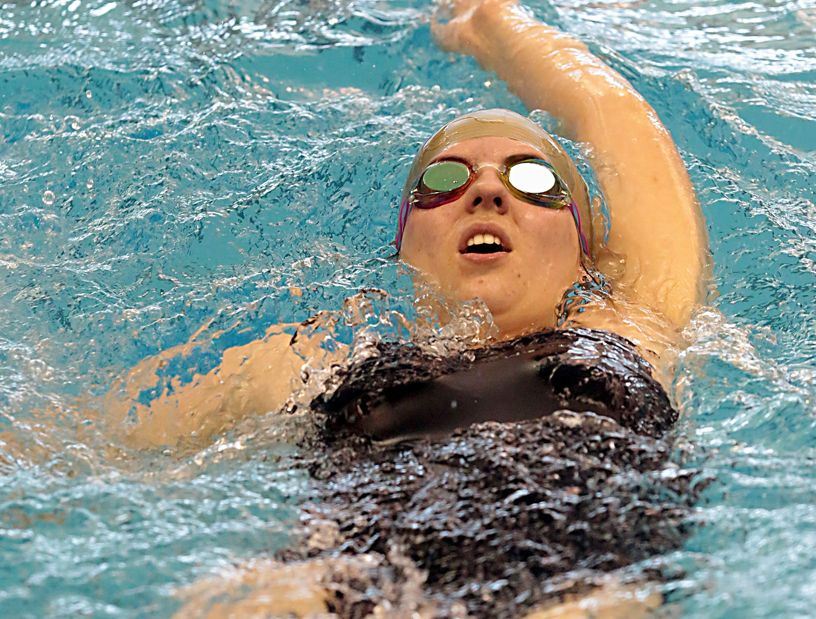 Abigail Marsh, from West Clermont, competes in the 200-yard IM during the Division I and II sectionals at Mason High School Saturday, Feb. 9, 2019.
