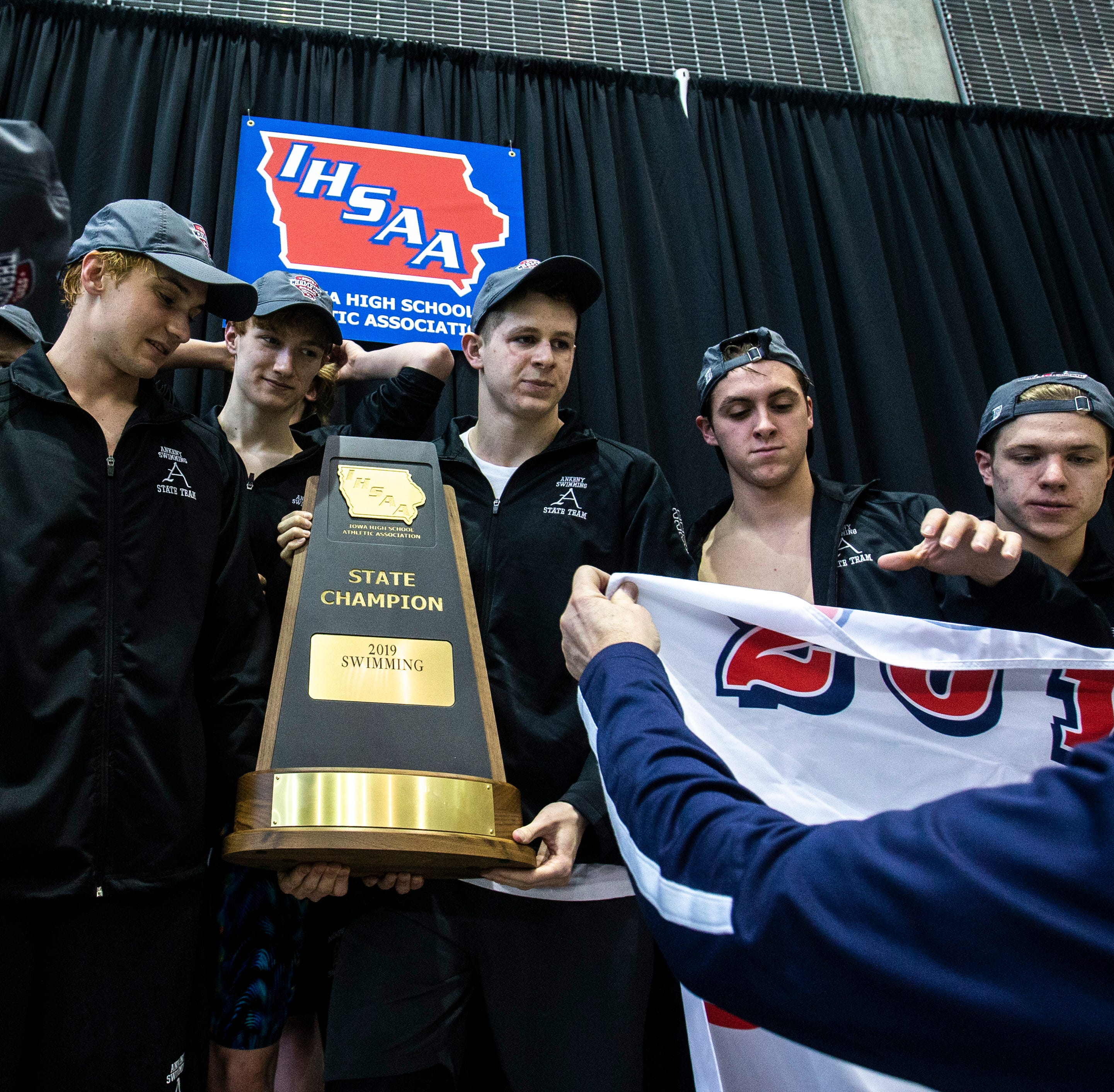 Ankeny clinches program's first boys' state swimming title