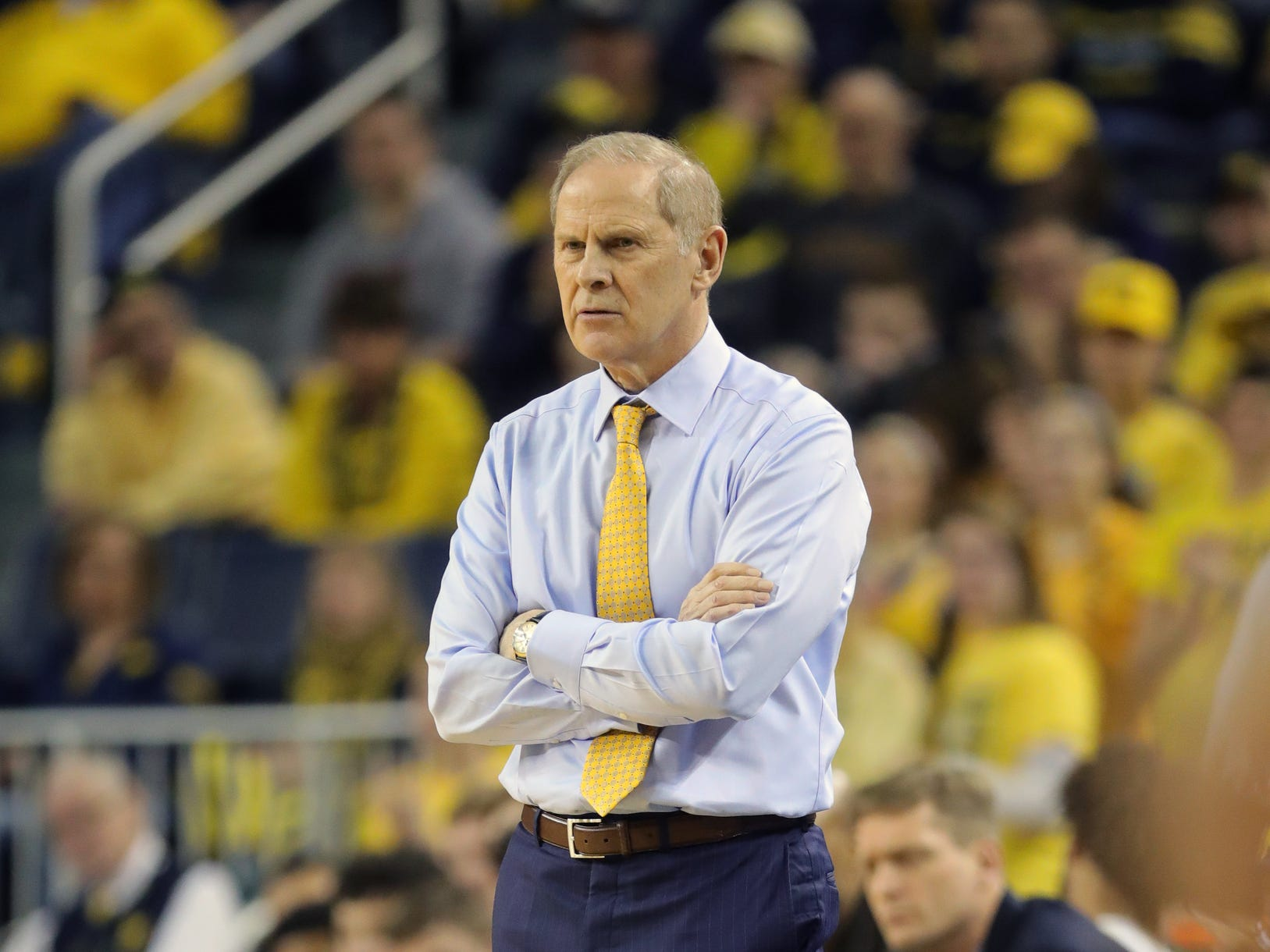 Michigan head coach John Beilein watches action against Wisconsin, Saturday, Feb. 9, 2019 at Crisler Center.
