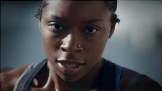 Detroit native Toni Harris in Toyota's 2019 Super Bowl Commercial.