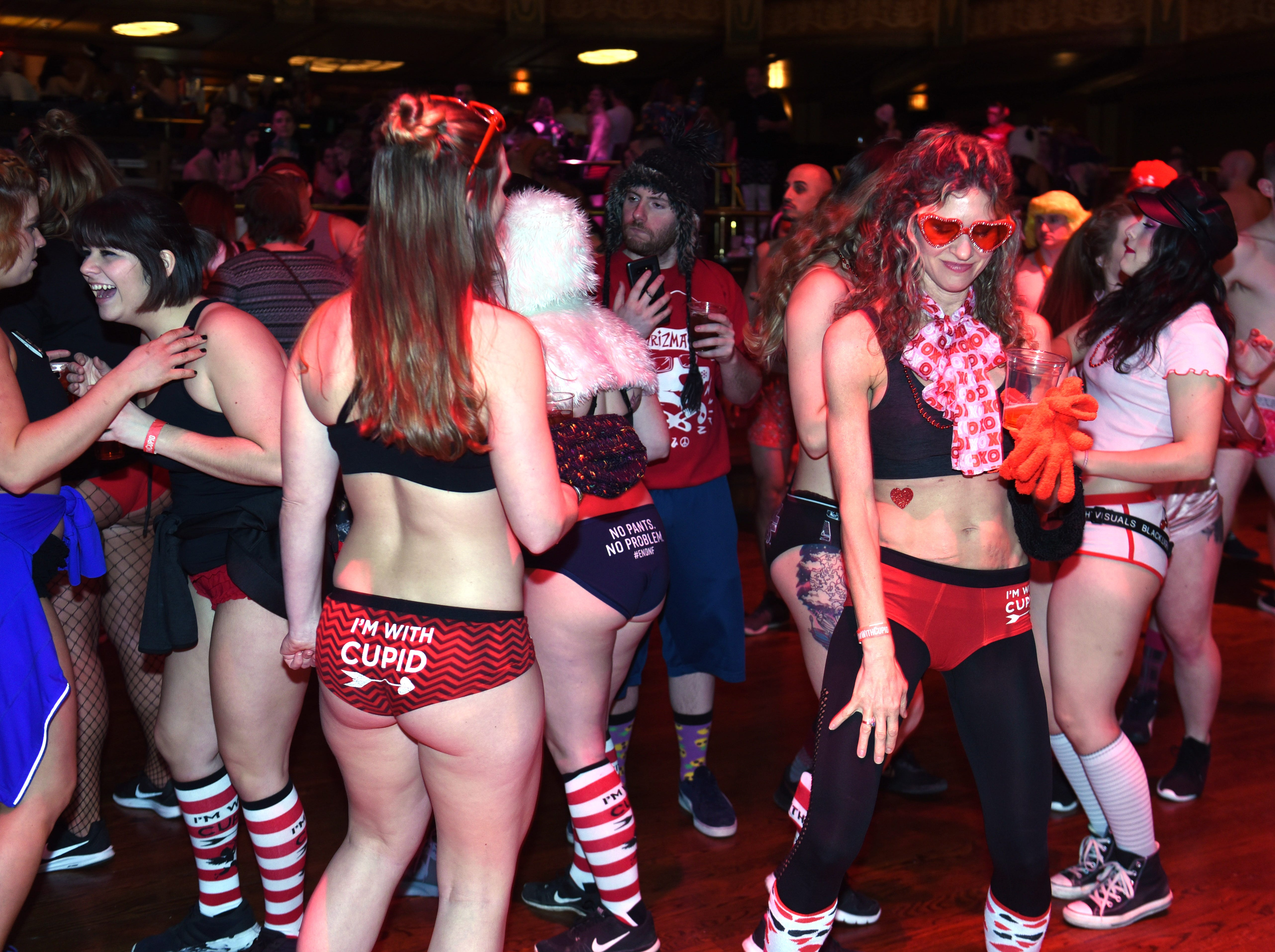 A party at The Fillmore Detroit started hours before Cupid's Undie Run.