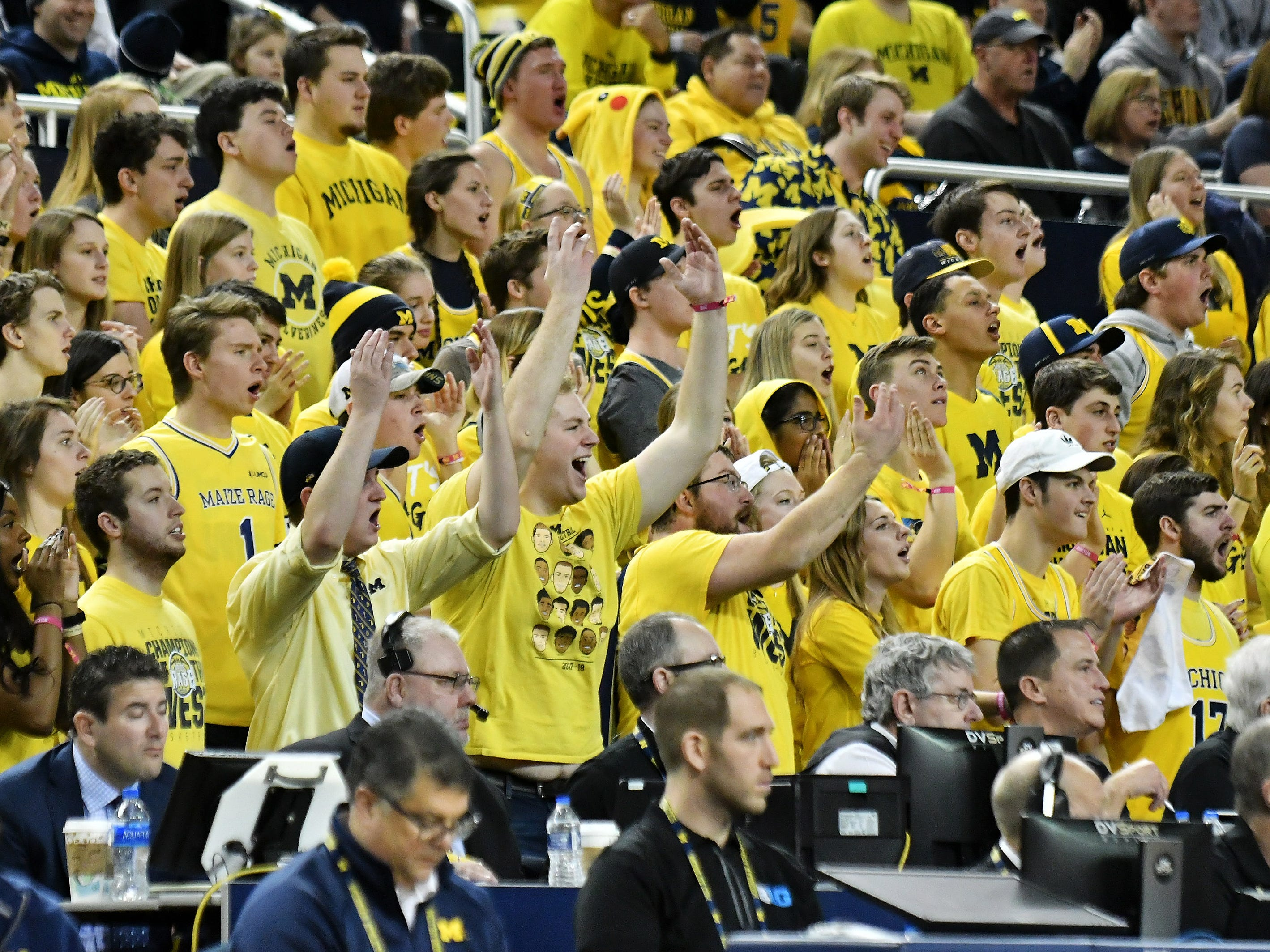 Michigan fans get excited in the second half.