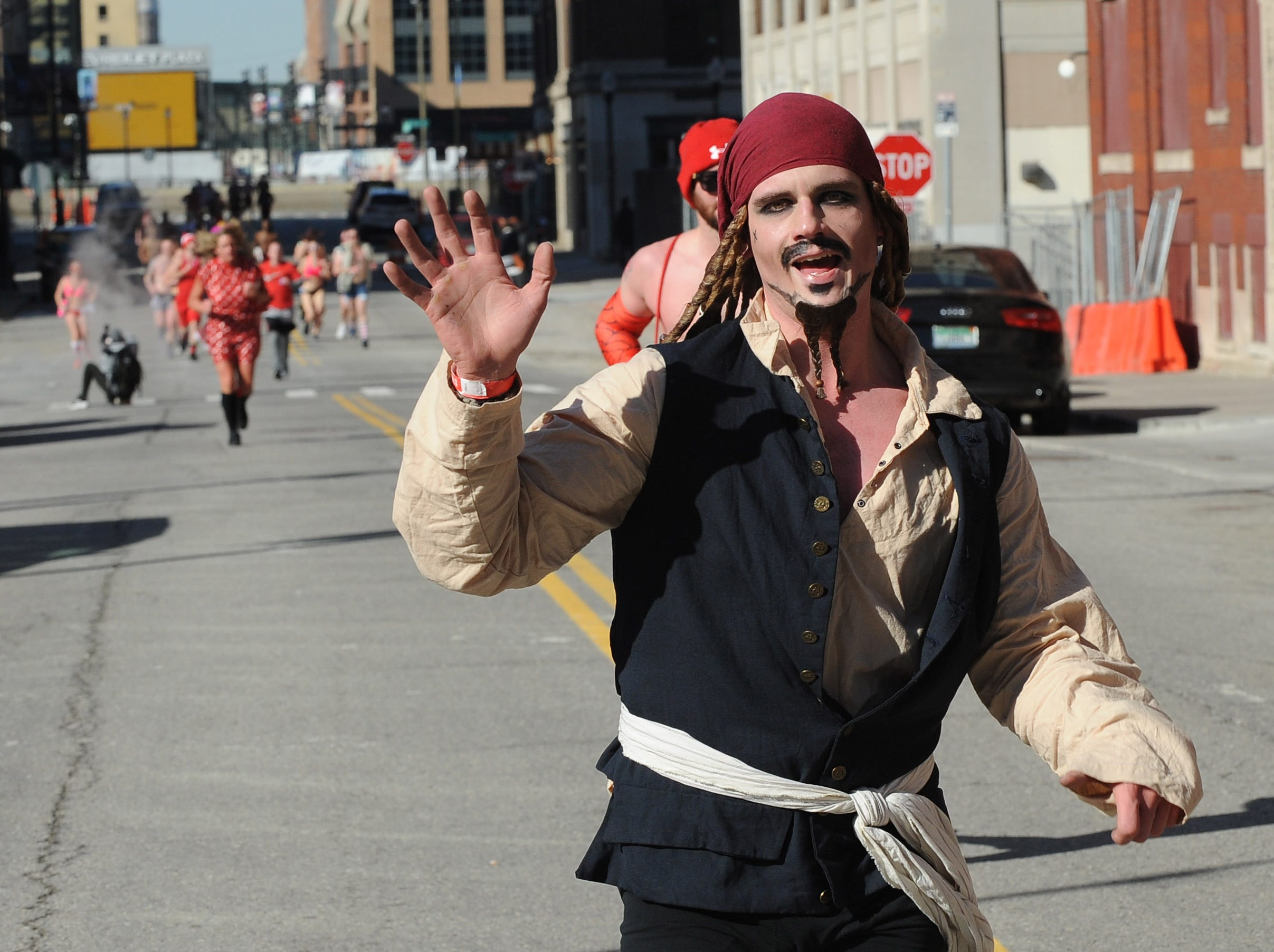 Even Captain Jack Sparrow ran Cupid's Undie Run.